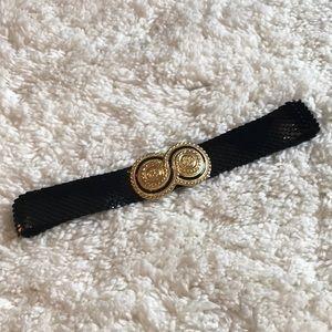 Vintage Day-lor Gold Buckle Scalloped Belt